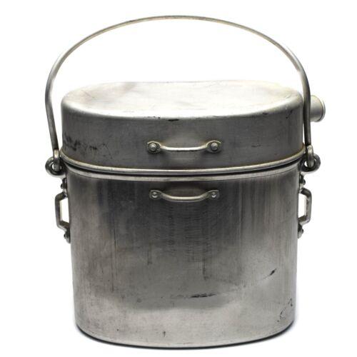 WWII Original French Army Large mess kit. Aluminium military bowler pot 5 liter
