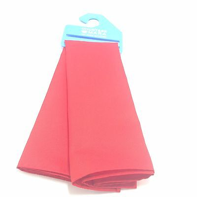 $115 COUNTESS MARA Men`s RED SOLID CASUAL SUIT HANDKERCHIEF DRESS POCKET SQUARE