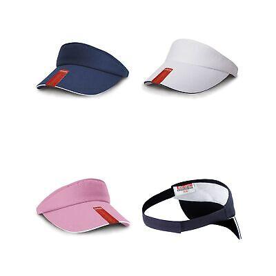Result Caps Damen Sport Visor Cap Sonnenblende Fitness Baumwolle RC048X New