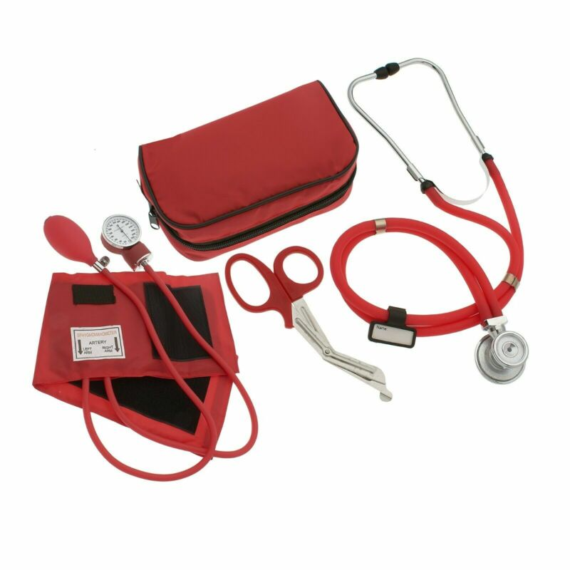"Nurse Starter Pack, Stethoscope, Blood Pressure Monitor, EMT Trauma Shears 7.5"""