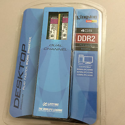 Kingston 4GB (2x2GB) 240-Pin DDR2 SDRAM 800Mhz PC2 6400 Desktop Memory