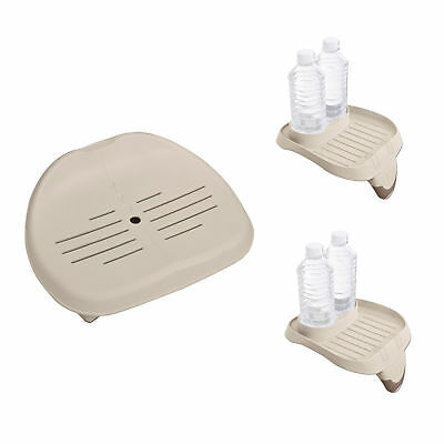 Spa Tray - Intex Removable Seat For Inflatable Pure Spa Hot Tub & Cup Holder Tray (2 Pack)