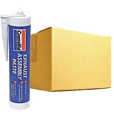12 x Granville Exhaust Assembly Jointing Sealant Paste Gun Cartridge Tube 500g