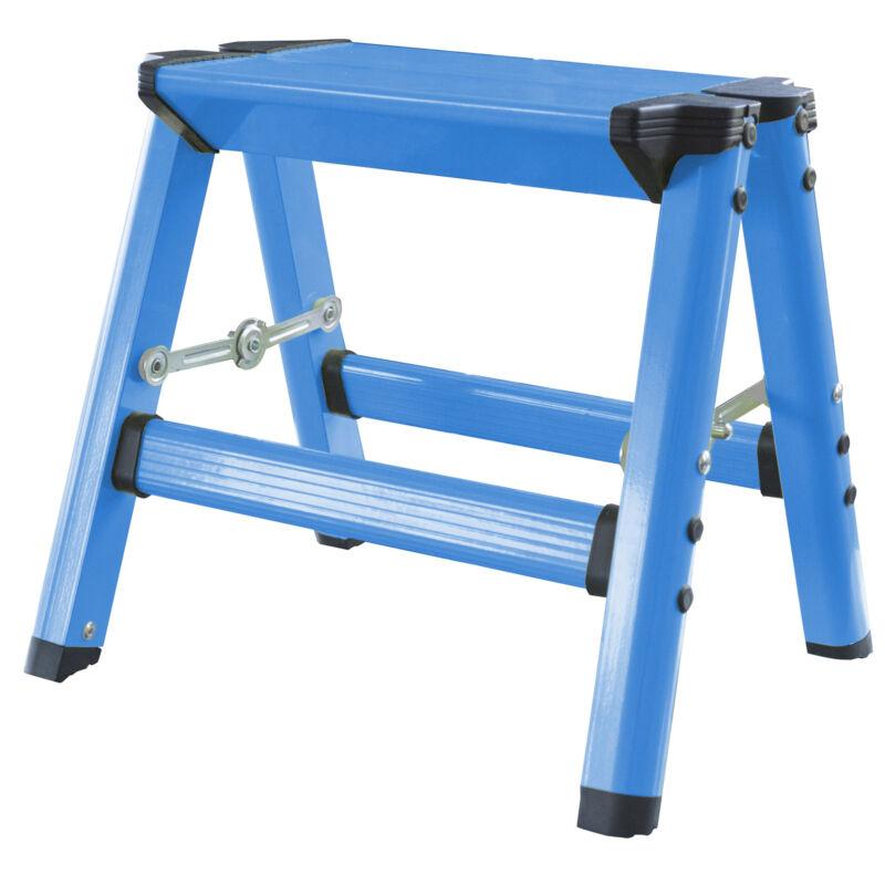 AmeriHome STL1ABLBX Lightweight Single Step Aluminum Step Stool - Bright Blue