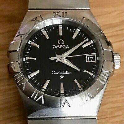 Omega Constellation Double Eagle Black Dial Stainless Steel Quartz 36mm