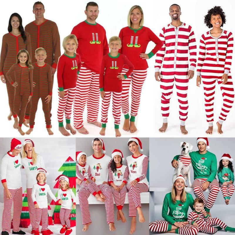 Christmas Xmas Family Matching Set Pajamas Nightwear Kids Ad