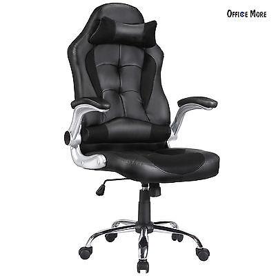 Executive High Back Swivel Office Chair Ergonomic PU Leather Computer Desk Task