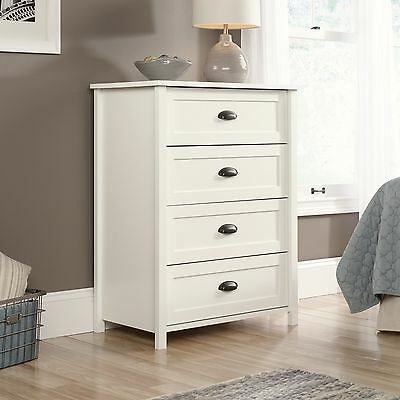 كومودينو جديد 4-Drawer Chest – Soft White – County Line Collection (416976)