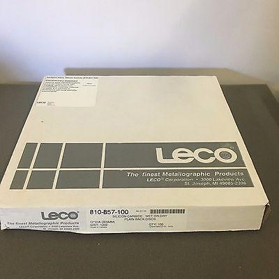 Leco 810-857-100 Silicon Carbide Wet Or Dry Plain Back Discs
