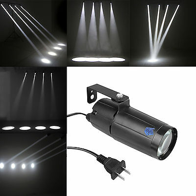 White LED Pin Spot Light Narrow Beam Pinspot DJ Mirror Ball Spotlight For Party - Mirror Ball Light