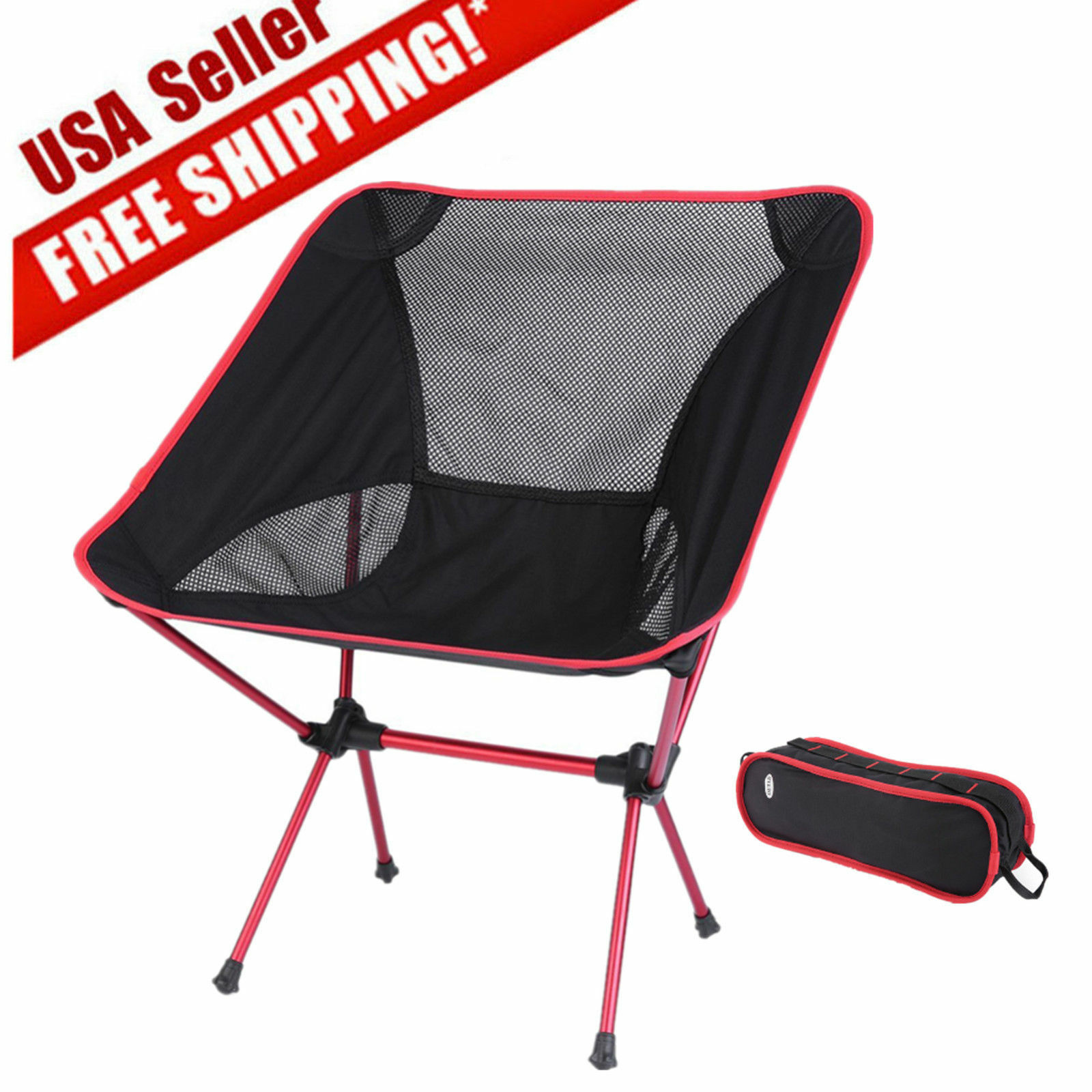 Folding Seat Stool Fishing Camping Hiking Gardening Beach
