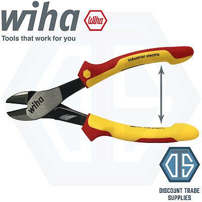 Wiha 41280 200mm Industrial Vde Electrical Diagonal Cutter Spring Plier