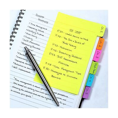Redi-tag Divider Sticky Notes Tabbed Self-stick Lined Note Pad 60 Ruled Not...