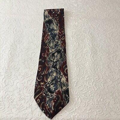 Vintage Henri Christian Silk Neck Tie New York Paris Great Britain Henry New York Tie