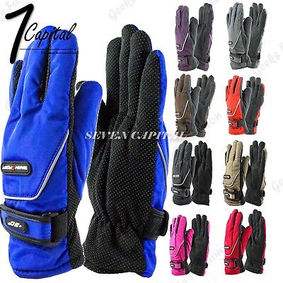 (Womens Outdoor Sports Winter Thermal Waterproof Adjustable Ski Snowboard Gloves)
