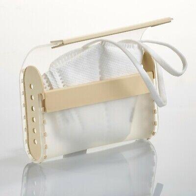 Aufbewahrungsbox für Masken, Mundschutz Maskenetui Hülle Organizer Farbe Beige