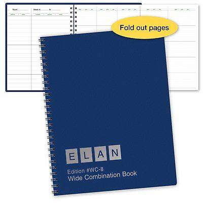 Combination WIDE Lesson Plan + Record Book (WC-8)