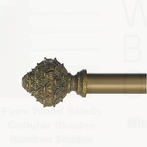 Pinecone Curtain Rod Antique Bronze Free Shipping