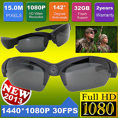 New Version 15MP HD 1080P Video Sunglasses Camera Recorder Eyewear Sports DV Cam