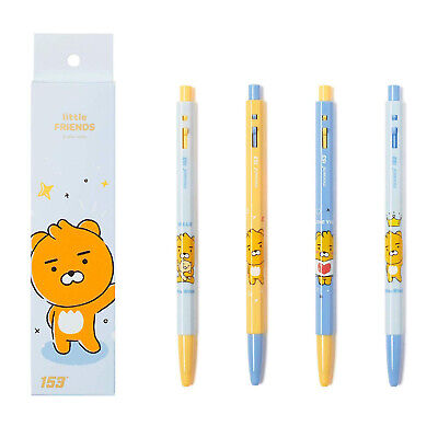 KAKAO FRIENDS Little Friends x Monami 153 Ballpoint Pen Set 0.5mm Black Ryan