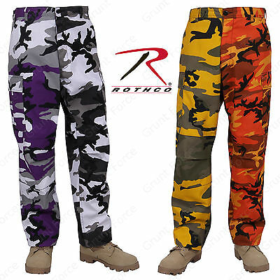 Rothco Two-Tone Camo BDU Pants - Yellow and Orange or Ultra Violet and City ()