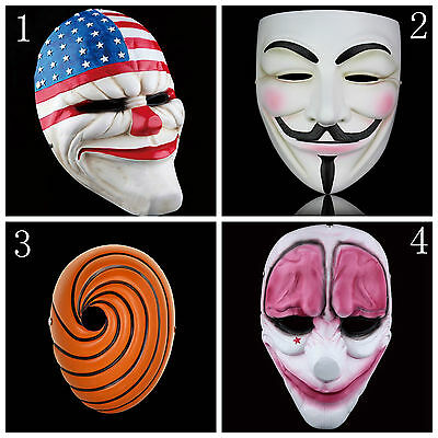 Halloween Funny PAYDAY 2 The Heist Dallas Mask Cosplay Props Mask Collection gif - Halloween Gif Funny