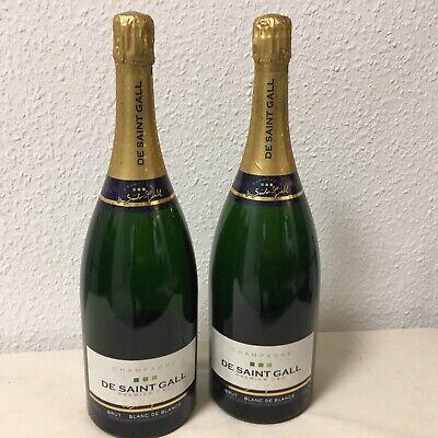 2 Champagner Magnum Flaschen De Saint Gall 1,5 Liter leer Dekorationsflaschen
