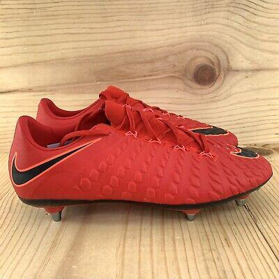0f2cba7a893 Nike Hypervenom Phantom III 3 SG ACC Size 10 Red Black Mens Soccer Cleats