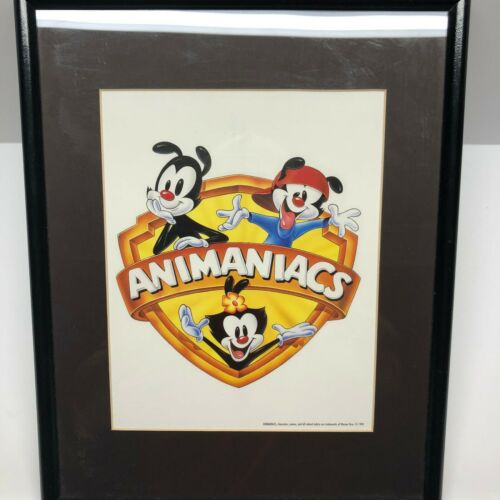 "Vintage 1995 Warner Brothers Animaniacs Print Poster In Frame 11.5"" x 14.5"""