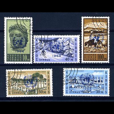 CYPRUS 1964 U.N. Council. 5 Values. SG 237-241. Fine Used. (BH322)
