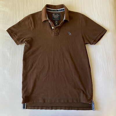 Abercrombie & Fitch | A&F Mens Brown Pique Polo Shirt - Size Medium