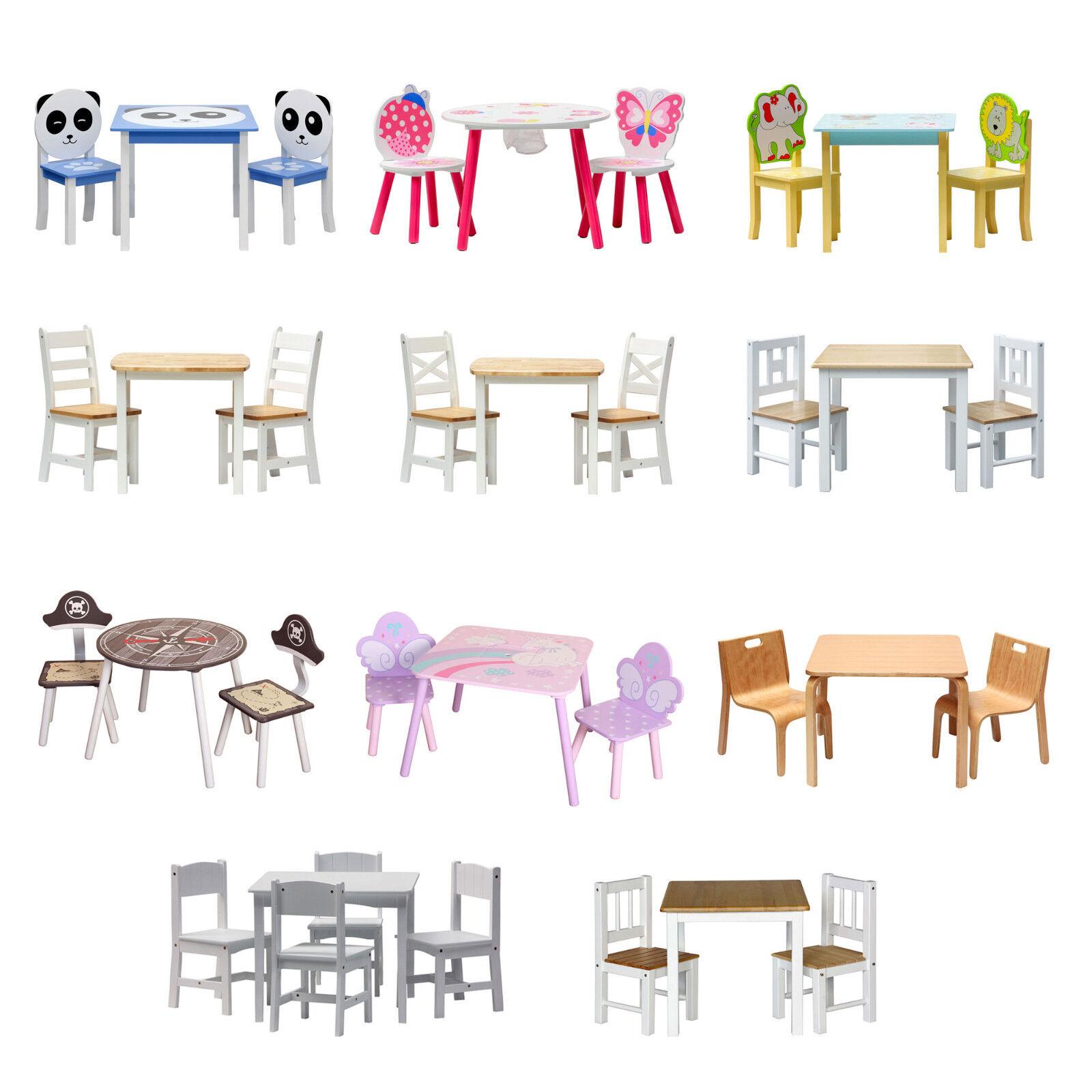 ib style® - Kindersitzgruppe Tischset Kindermöbel Kindertisch Kinderstuhl Holz