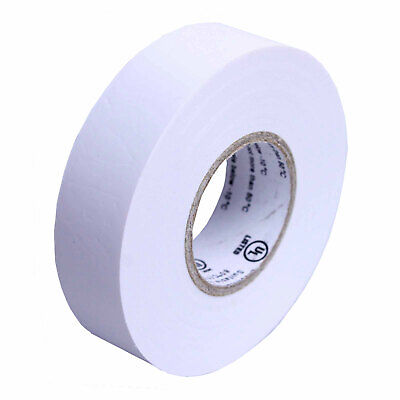 1 Roll White Electrical Insulating Tape Vinyl 34 Inch 20 Yards Ul Listed