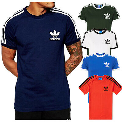 Original Adidas California Mens T Shirt Retro Trefoil Short Sleeve Crew Neck Top