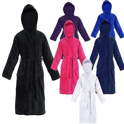 KIDS BATHROBE BOYS GIRLS 100% EGYPTIAN COTTON TOWELLING DRESSING GOWN SOFT TOWEL](Girls 100 Cotton Nightgown)