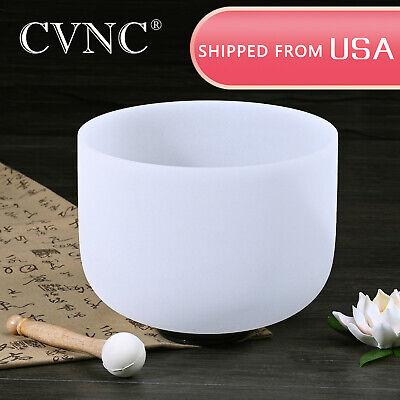 CVNC 8 Inch E Solar Plexus Chakra Quartz Crystal Singing Bowl Rubber Mallet - $19.99