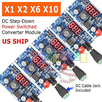 Lm2596 Buck Step-down Power Converter Module Dc 2.540 To 1.25-37v Led Voltmeter