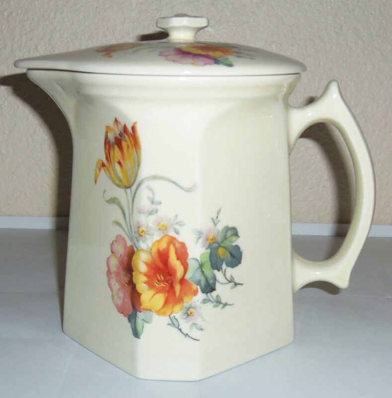 Coors Pottery Thermo Porcelain Tulip Large Covered Pitcher