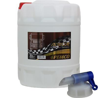 1x20L PEMCO AdBlue ® SCR-Harnstofflösung Abgasreinigung nach DIN 70070 + Hahn