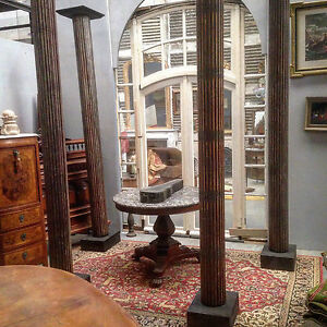 Quatres colonnes cannel es en sapin massif xix si cle ebay for Interieur 18eme siecle