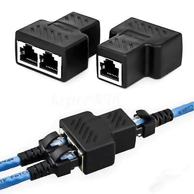RJ45 Splitter Adaptador LAN Ethernet 1 a Hembra Conector de puerto dual...