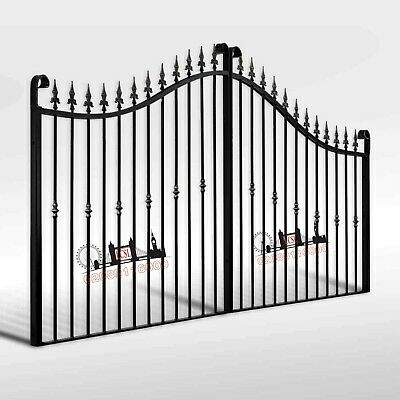 NEW WROUGHT IRON DRIVEWAY GATES / METAL GATES / FRONT DRIVEWAY GATE / GATES
