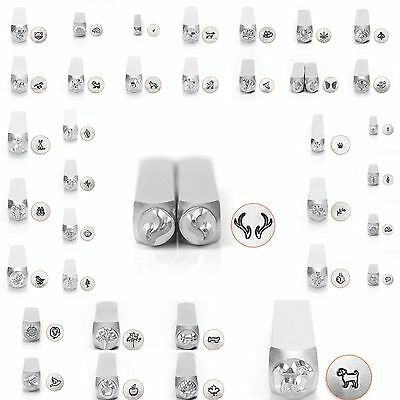 - Metal Jewelry Design Stamps by ImpressArt (ANIMALS & NATURE) 6mm NEW!!!