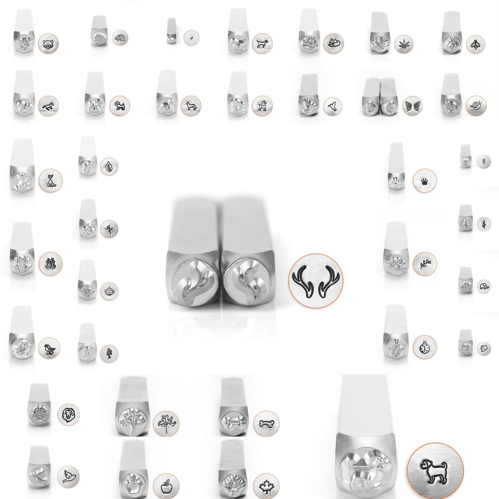 Metal Jewelry Design Stamps by ImpressArt  6mm NEW!!!