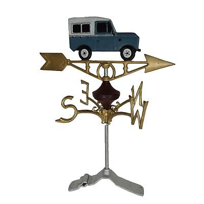 Landrover Defender Weather Vane Vain Ridge Mount Gold House Roof Cast Iron