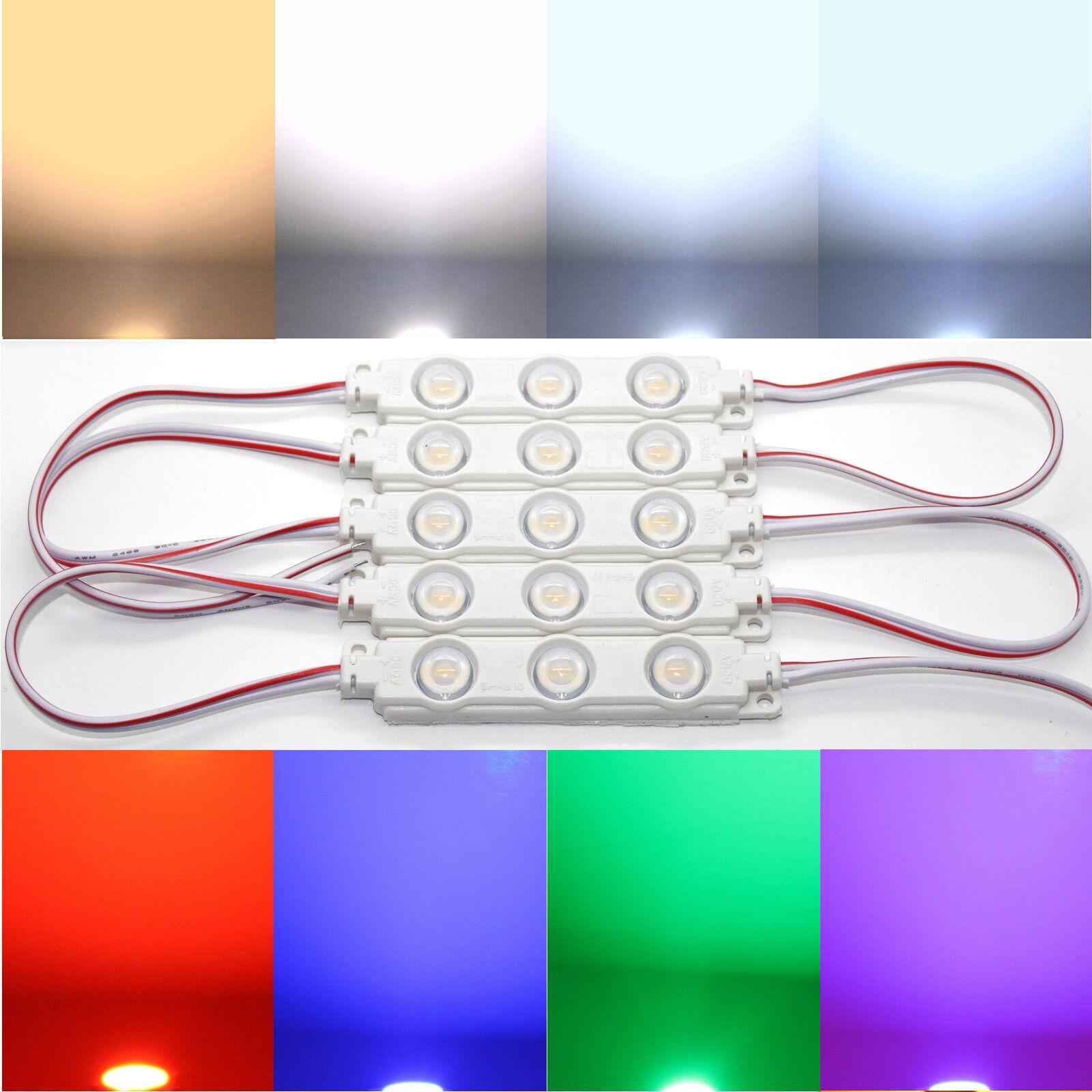 LED Modul 0,5W 12VDC IP67 160° Grad Linse Werbetechnik Leuchtbuchstaben Tikor 1
