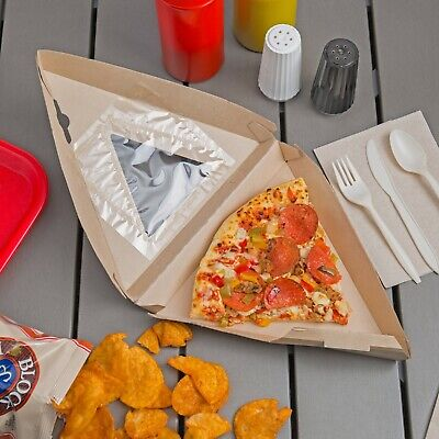 Eco Craft Grease Resistant Pizza Slice Take-out Box 300 Ct Nat-f608ravf