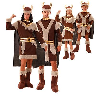 Wikinger Kostüm Damen Herren S M/L XL XXL Kinder 4-12 Jahre Vikinger Fasching