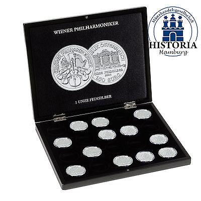 Leuchtturm 350448 Münzkassette für 20 Münzen Silber Philharmoniker in Kapseln
