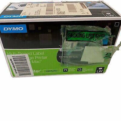 Dymo Labelwriter 450 Turbo Thermal Label Printer Model 1750283